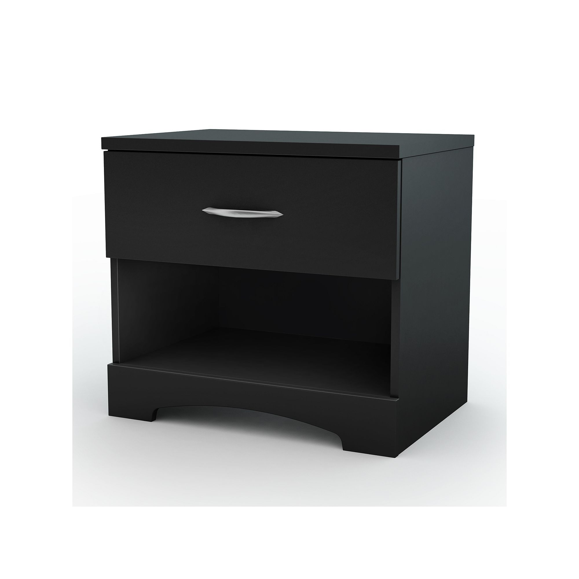 6 star master bedroom  South Shore Black Contemporary Nightstand  Products
