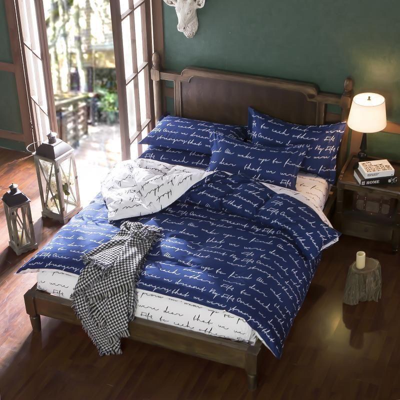 Love Story Zip Open Twin Queen King Bed Set Pillowcases