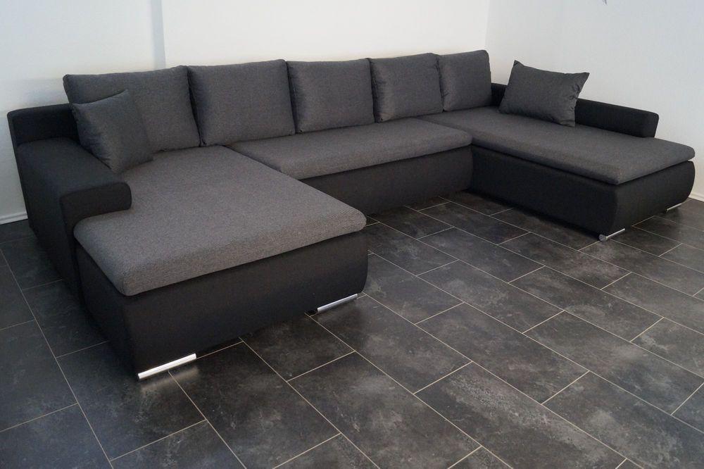 U 380cm Schlafcouch Wohnlandschaft Sofa Couch Bett Www Sofa