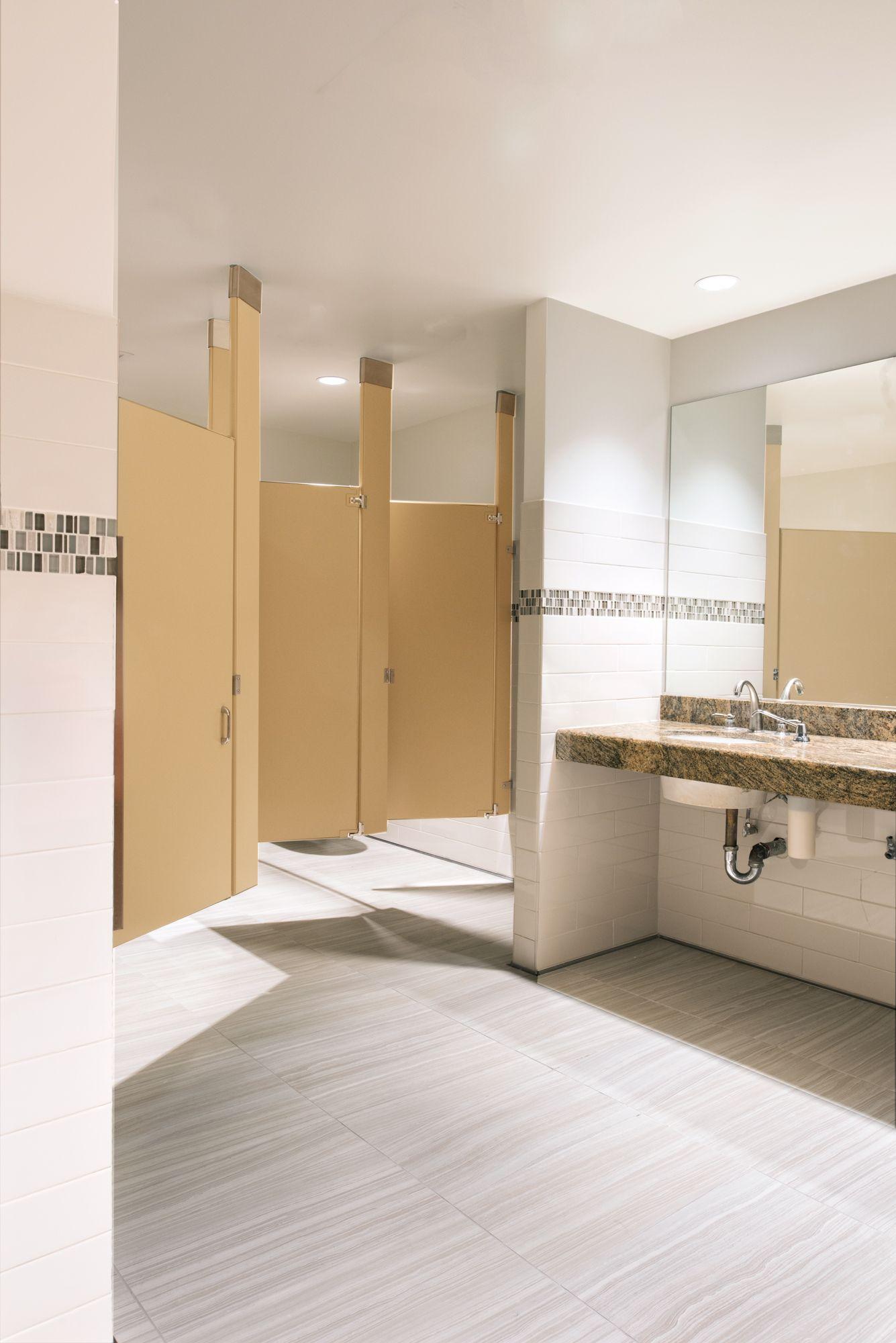 Modernization of twenty public restrooms in a commercial