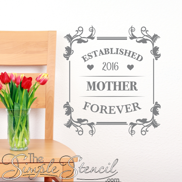 This Customizable Wall Decal Sticker Makes A Great Gift For New Moms Or Use It To Surprise Your Mom On Custom Wall Quotes Stencil Wall Art Vinyl Wall Lettering