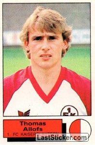 THOMAS ALLOFS 198586 KAISERSLAUTERN Deutsche fußballer