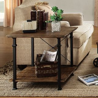 Bon TRIBECCA HOME Myra Vintage Industrial Modern Rustic End Table | Overstock.com  Shopping   The