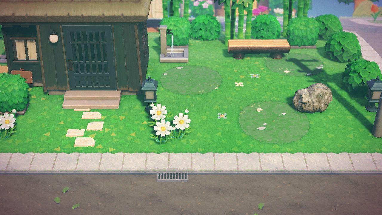 Moo On Twitter Animal Crossing Grass Pattern Road Design Backyard lawn diy acnh