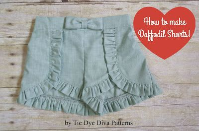 Tie Dye Diva Patterns: How to Make Daffodil Capris into Shorts!