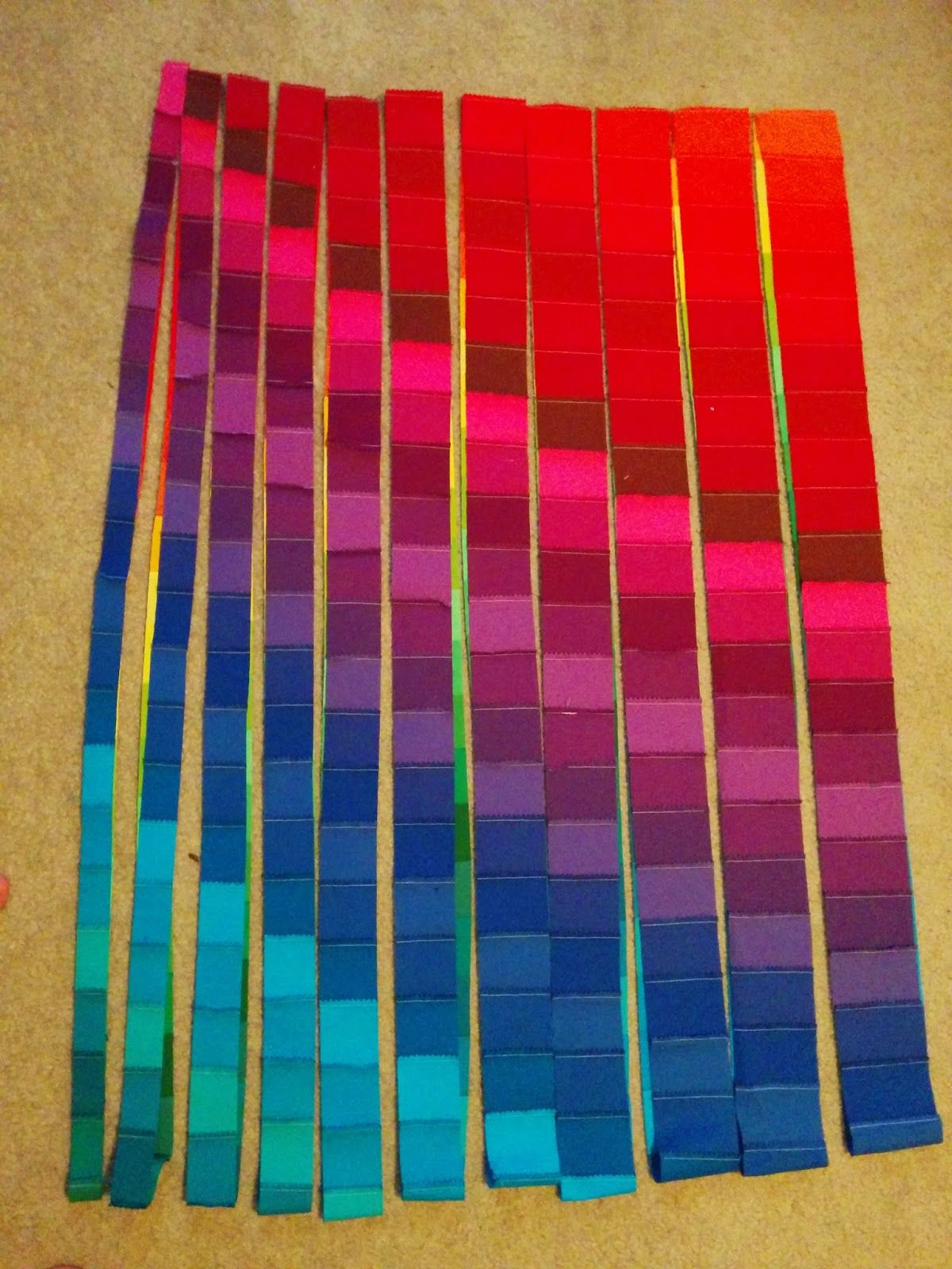 Lets Quilt Something: Rainbow Bargello - Jelly Roll Kona Roll Up ... : strip quilts using jelly rolls - Adamdwight.com