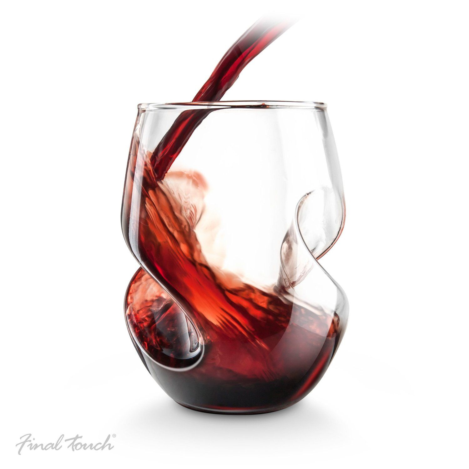 Conundrum Red Wine Glasses Set Of 4 By Final Touch Price 29 95 Capacity 16 Oz 473ml Dim Hand Blown Wine Glasses Red Wine Glasses Wine Glass Set