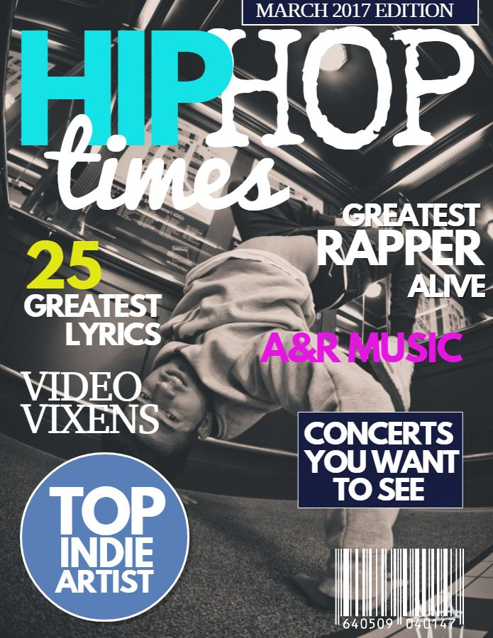 Music magazine cover design social media template | Magazine Cover ...