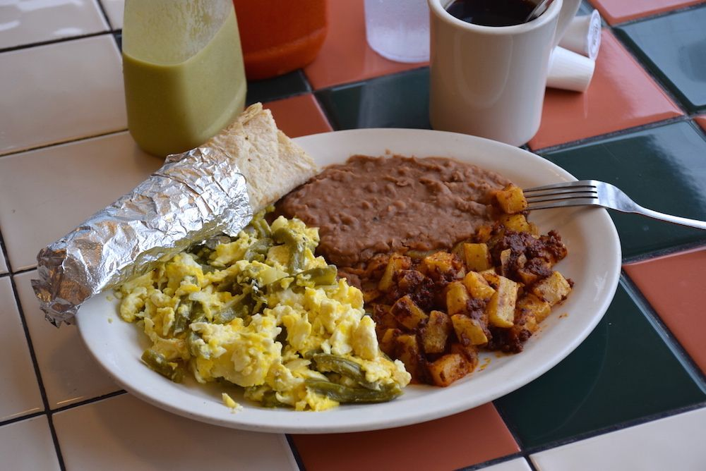 New To Our Menu Is Huevo Con Nopal Plate Served Daily Open Close For Here Go Or Delivery Www Elmilagritocafe
