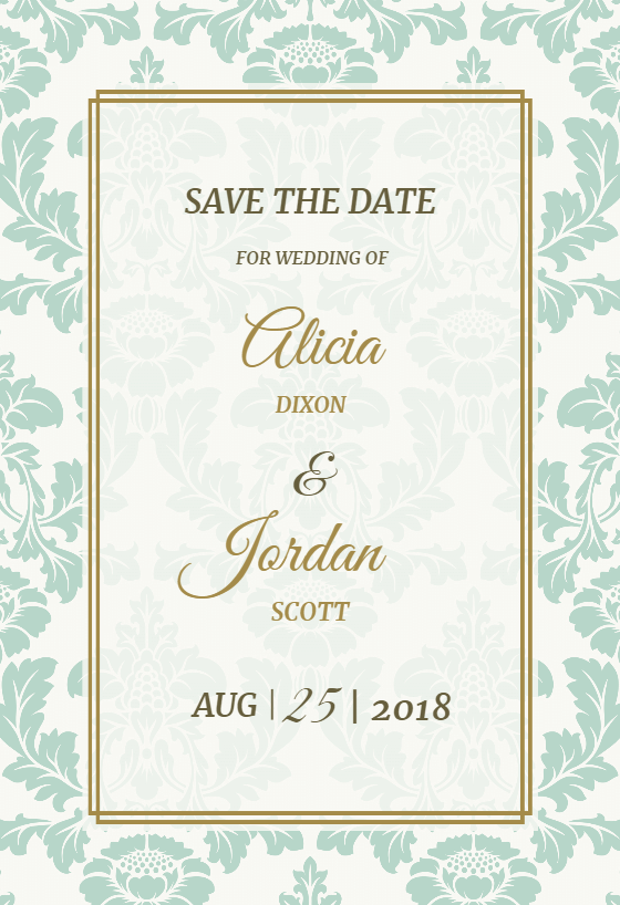 Rustic Frame - Free Save the Date Card Template ...