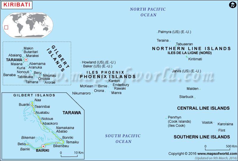 Political Map of Kiribati Political Map Pinterest Kiribati map