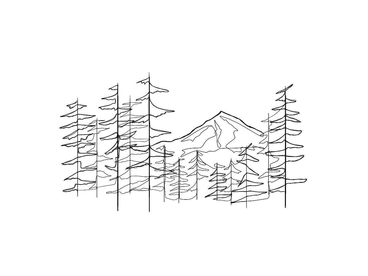 Continuous Line Drawing Of Mt Hood In Portland Or Line Drawing Tattoos Line Drawing Continuous Line Drawing