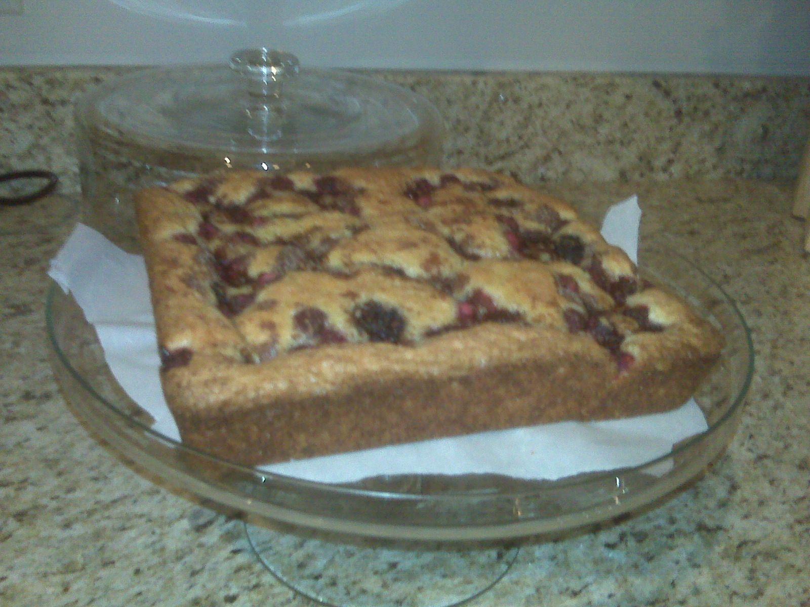 Raspberry-Almond Cake. Summer 2010.