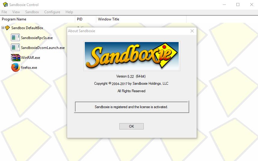 Sandboxie key