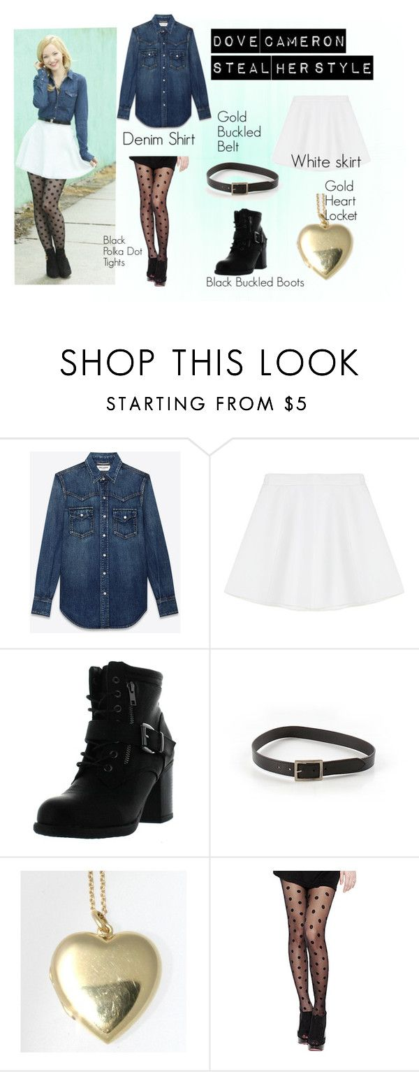 """""""Dove Cameron   Steal Her Style"""" by alison2000 ❤ liked on Polyvore featuring Yves Saint Laurent, RED Valentino, Betani, Bebe and Tiffany & Co."""