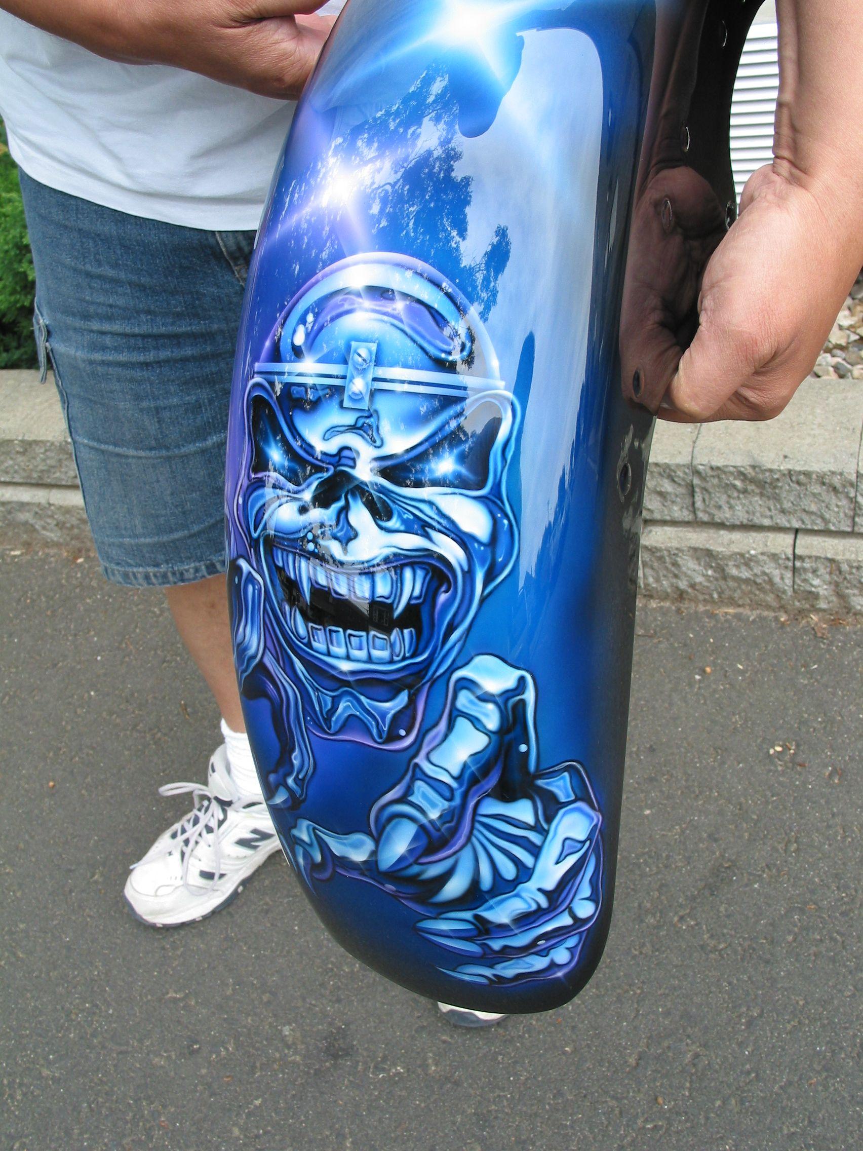 Iron Maiden Fender Favorite Rock Bands Airbrush Art