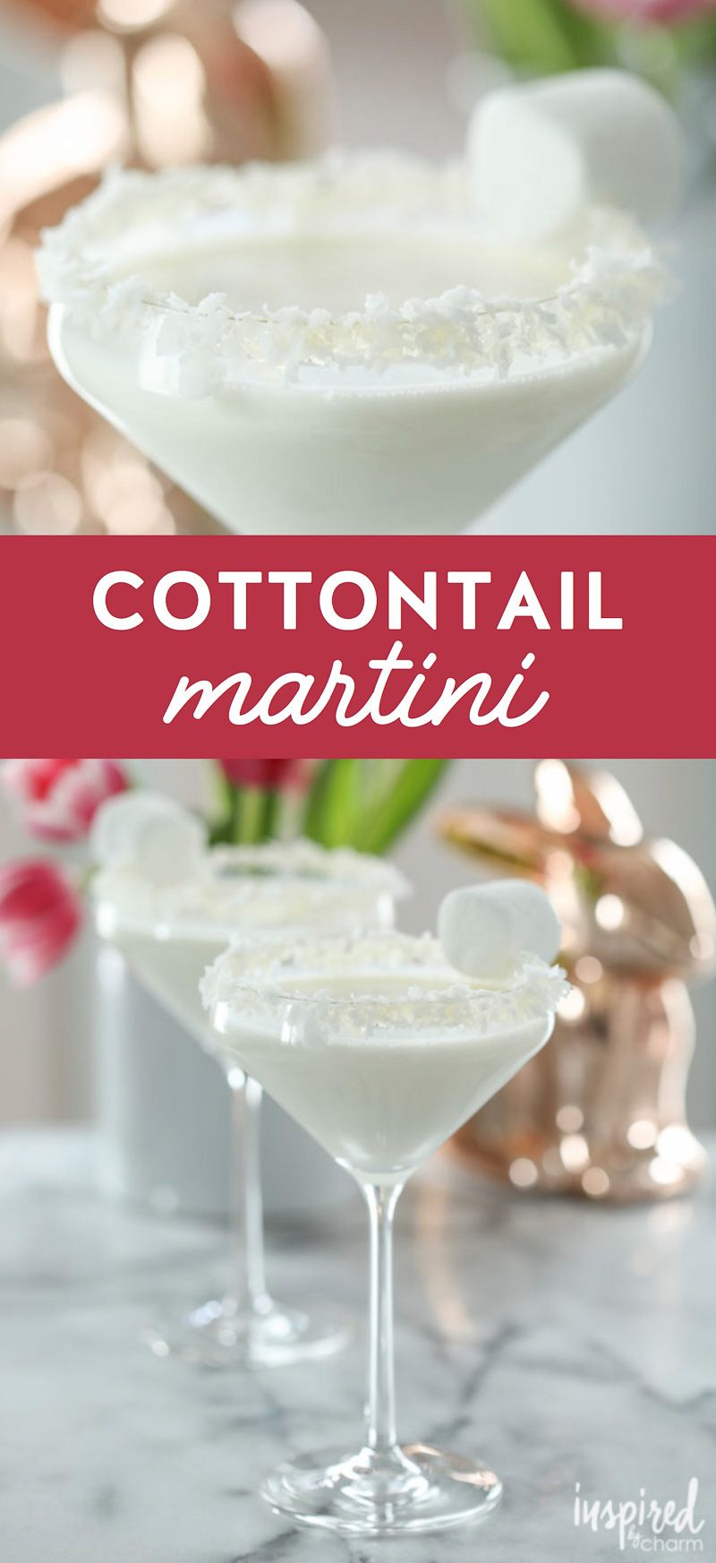 Photo of Need a unique Easter cocktail recipe? Try this Cottontail Martini cocktail. #eas…