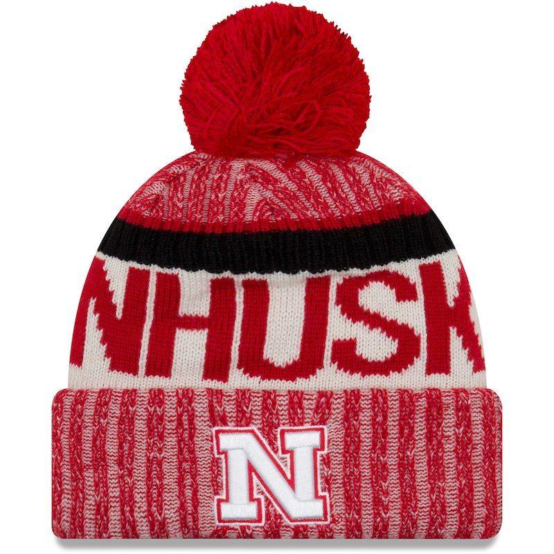 77491bf9600 Nebraska Cornhuskers New Era Team Sport Cuffed Knit Hat With Pom – Scarlet