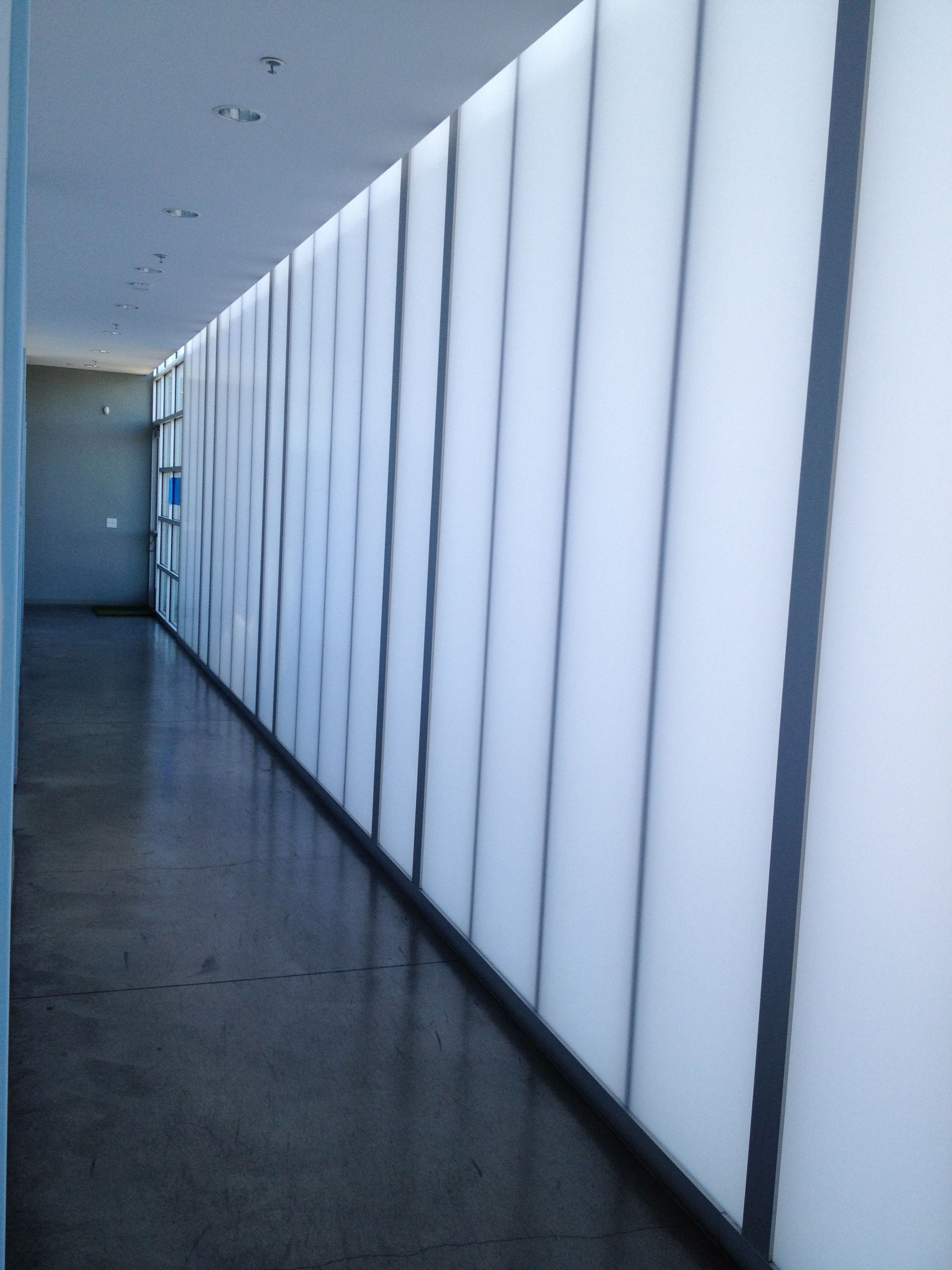 Cpi Polycarbonate Wall, Interior, It Glowed