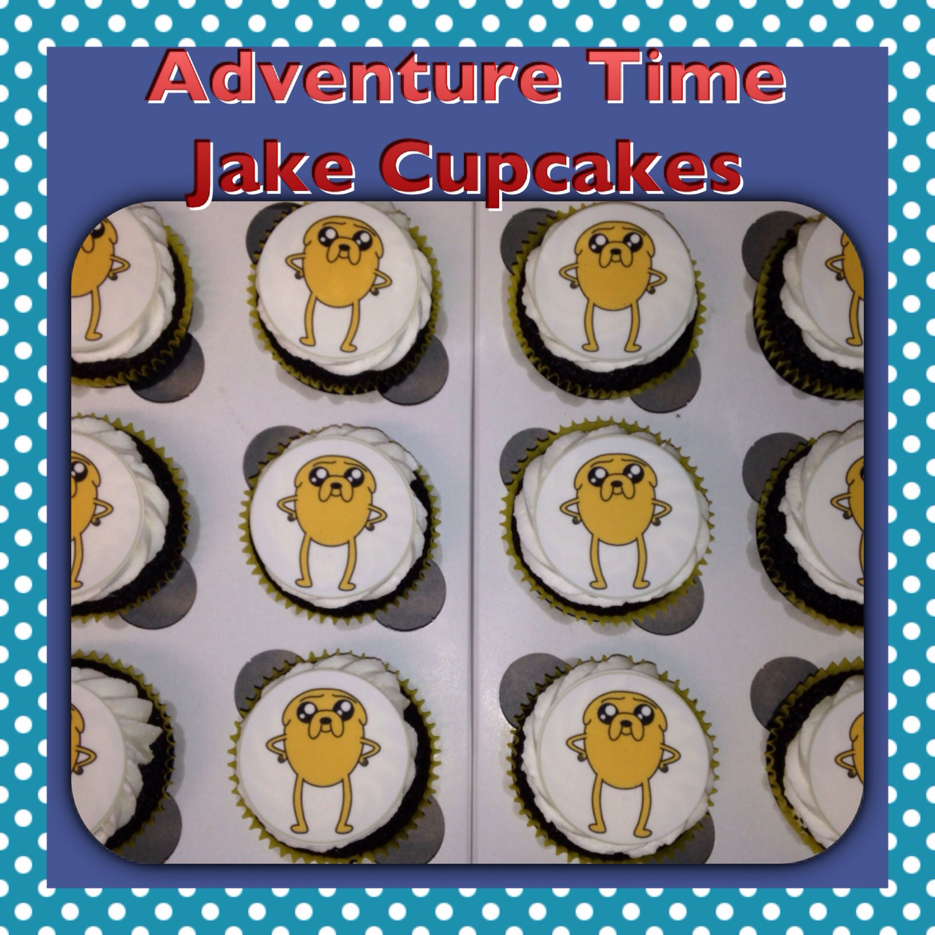 Adventure Time Jake Cupcakes