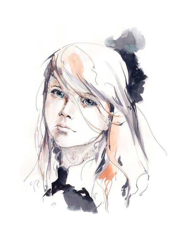 Helena In 2020 Watercolor Ink Watercolor Portraits Watercolor