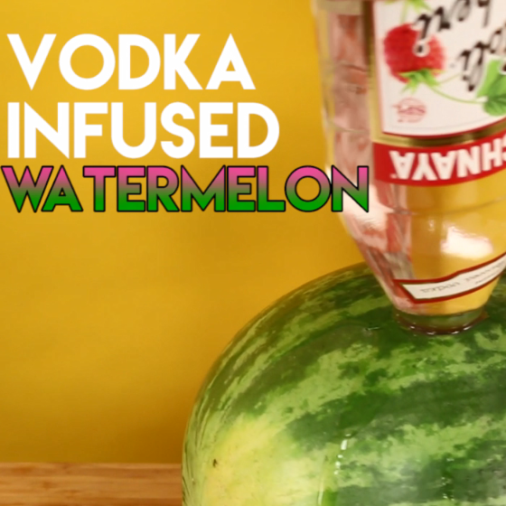 Vodka Infused Watermelon Recipe #cocktails #summer