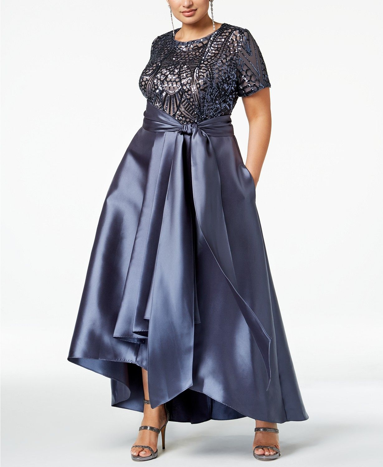 e3be8c5cdea57 R & M Richards Plus Size High-Low Gown in 2019 | Fashion | High low ...