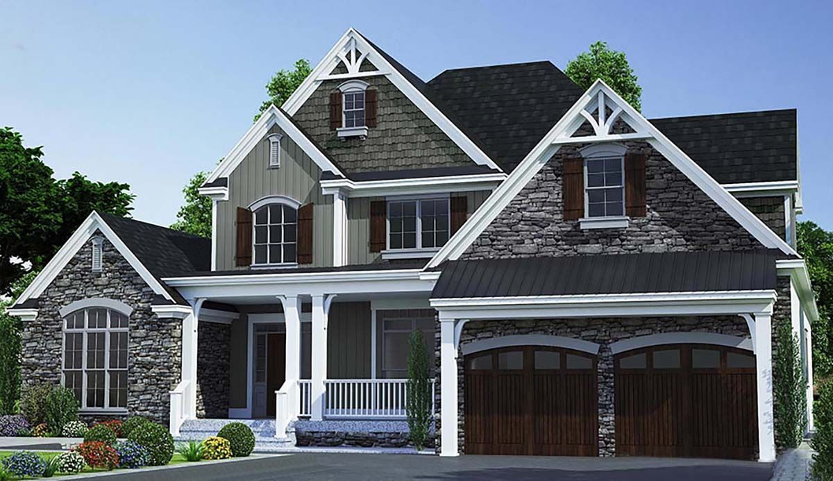 Traditional Style House Plan 82366 with 3 Bed , 4 Bath , 2