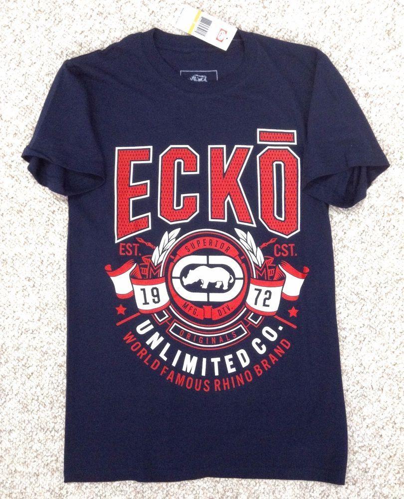 de7af609b New$20 Mens(Sm) ECKO UNLTD T-SHIRT Navy-Blue/Red/White Rhino Unlimited  EKEE9009N #ECKO #GraphicTee