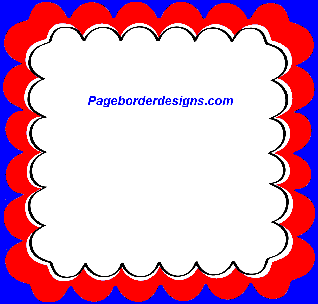 Blue and Red Clipart Photo Frame and Page Border Design 2014 ...