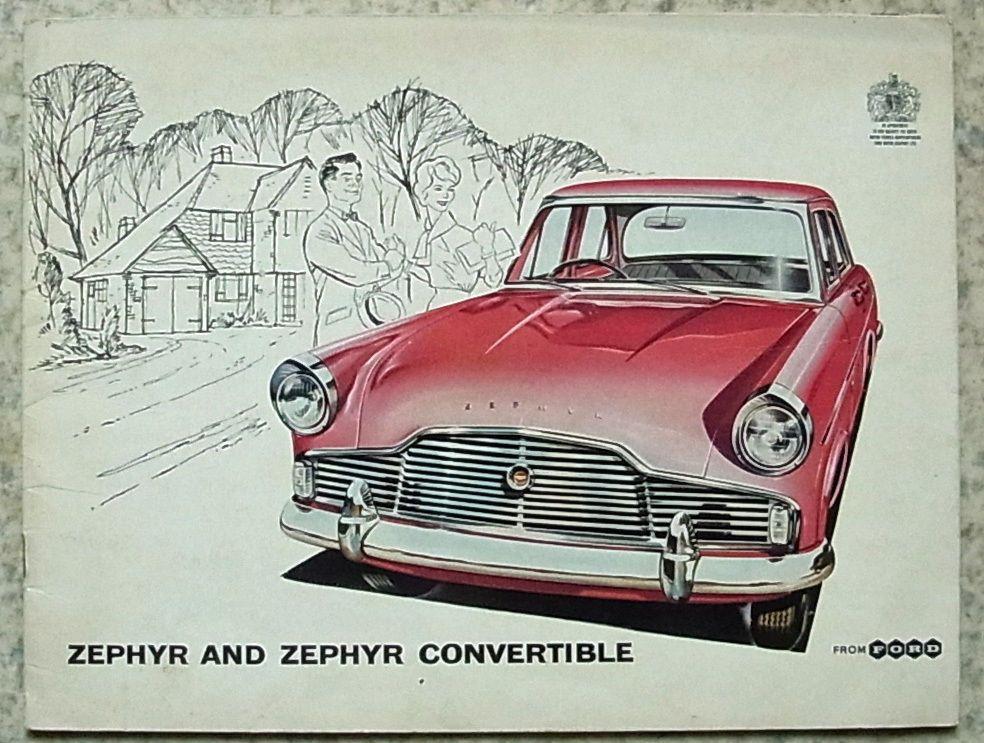 FORD ZEPHYR & CONVERTIBLE Car Sales Brochure 1959 #C5729/259 ...