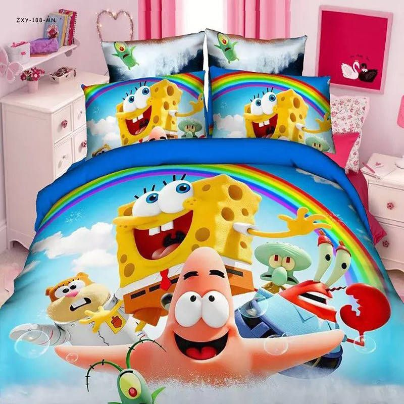 Details about Home Textiles Spongebob cartoon style