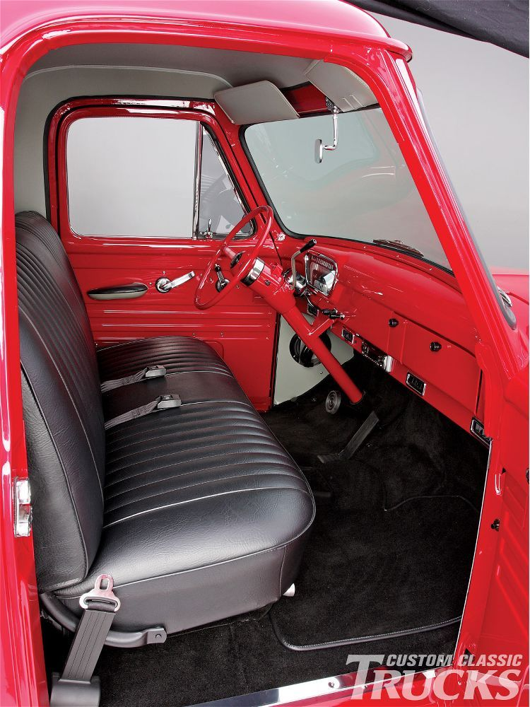 1955 Ford F100 Pickup Truck Aftermarket Leather Interior
