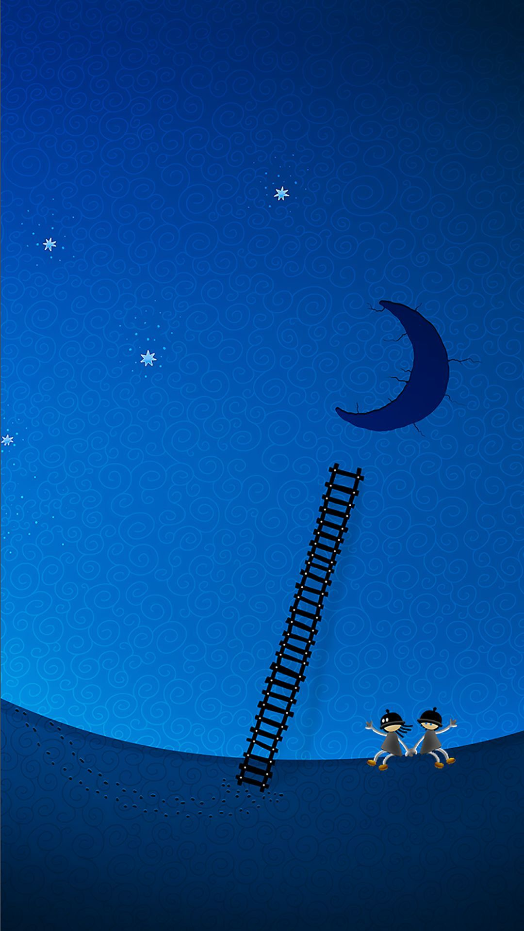 TAP AND GET THE FREE APP! Art Creative Moon Sky Stairs