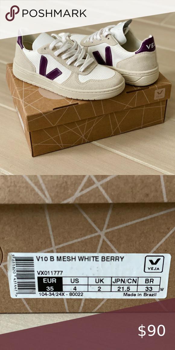 Veja V10 Women's Mesh White Berry in