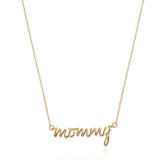For my wife and mommy to be 14k gold mommy necklace by kay wicks for my wife and mommy to be 14k gold mommy necklace by kay wicks aloadofball Choice Image
