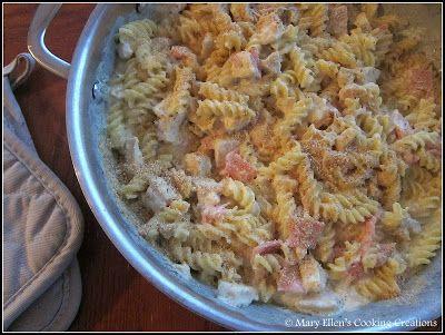 Mary Ellen's Cooking Creations: Chicken Cordon Bleu Pasta Bake