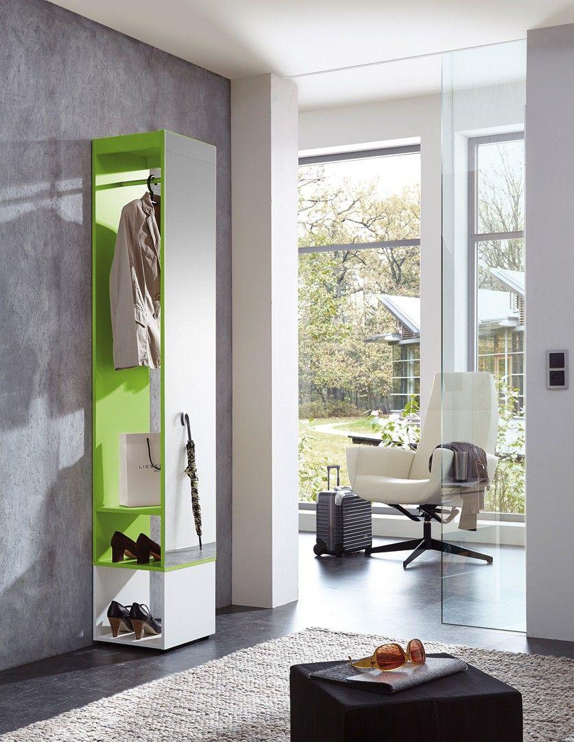 Meuble d 39 entr e design blanc vert estonio entr es meubles et vert - Meuble entree penderie ...