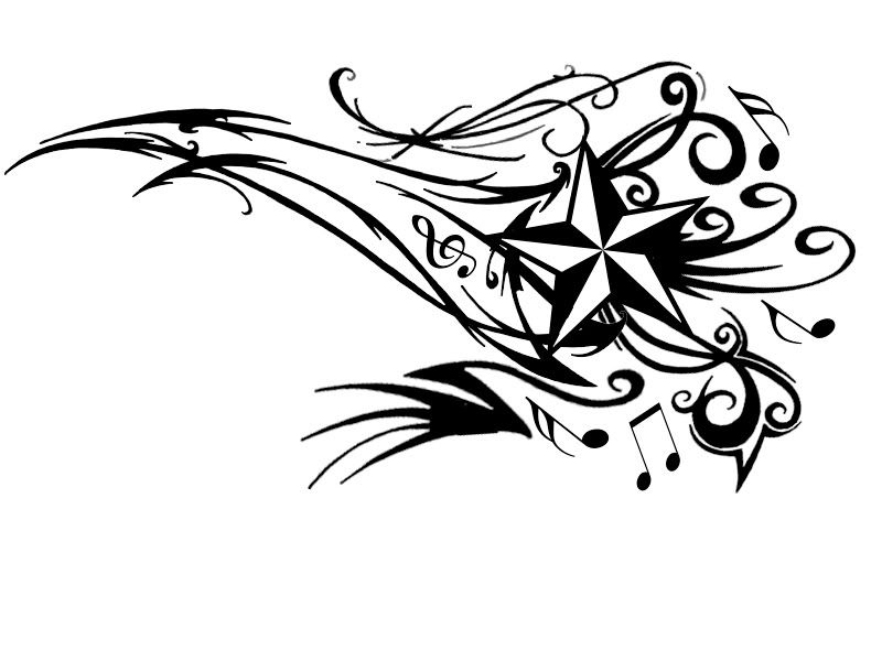 i would love to get this as a tattoo.. instead of the star i\'d have ...