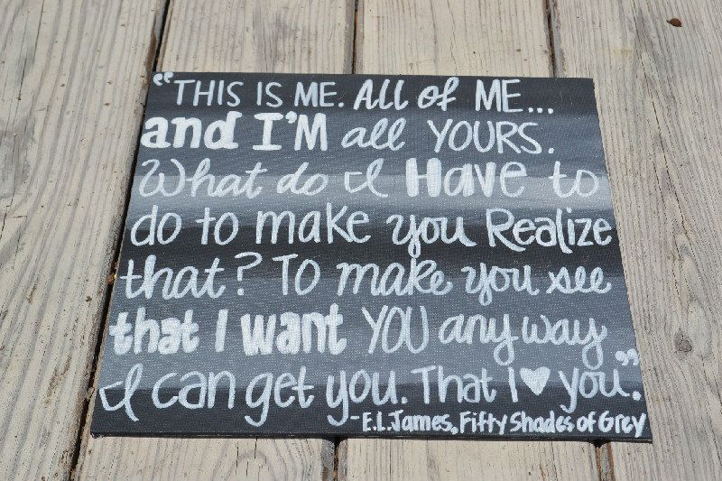 Quotes From 50 Shades Of Grey Delectable 50 Shades Of Grey Quote On 12X12 Canvas Panel  Grey Quotes 50 .