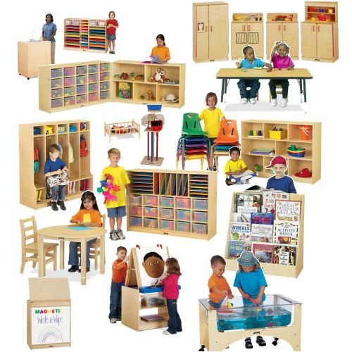 Home Daycare Design Ideas: PRE-K Classroom Layout, Birch Furniture Set, Preschool
