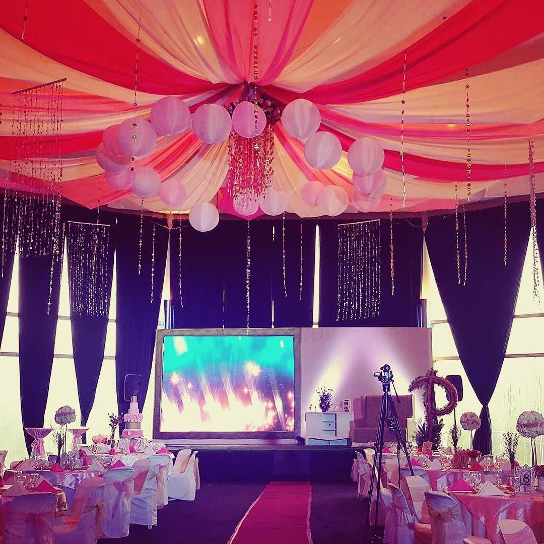 Day wedding stage decoration  rainy day debutant by pinkgenius pinkgeniusevents eventvenue