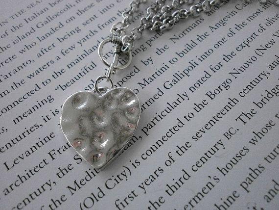 Serenity Prayer Heart Charm Necklace. by MECODesignsJewelry, $20.00