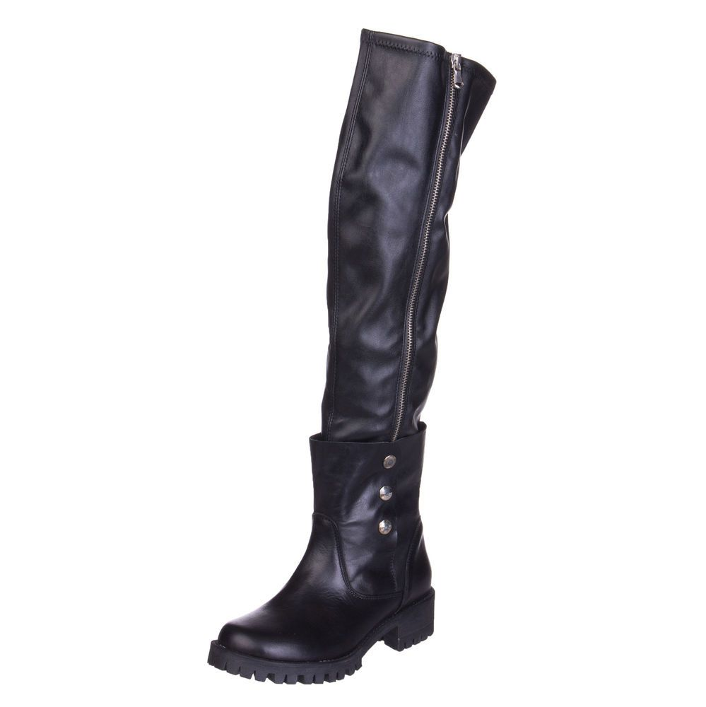 FABRIZIO CHINI Leather Knee High Boots Size 35 UK 2 Crumpled Made in Italy   fashion. Visit. November 2018 b0f7f162aea