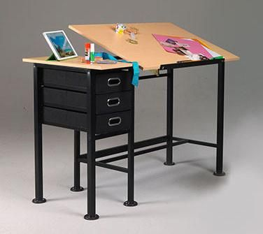 Martin Dorchester Split Top Craft Table Drawing Table Craft Table Art Supplies Storage