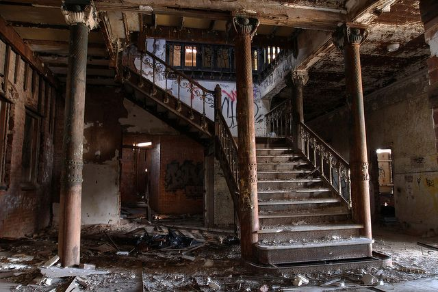 A Staircase Inside The Staten Island Castle, A.k.a. Samuel R. Smith  Infirmary, And