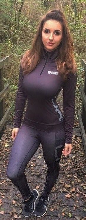 Busty yoga pants