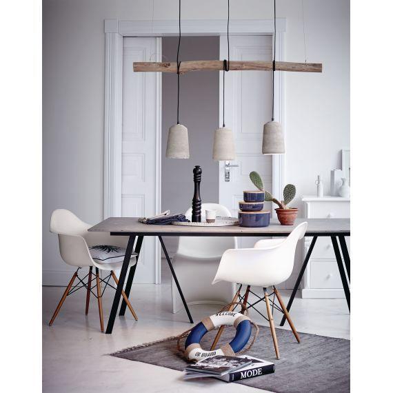 Esstisch, Industrial Look, Beton, Metall Vorderansicht