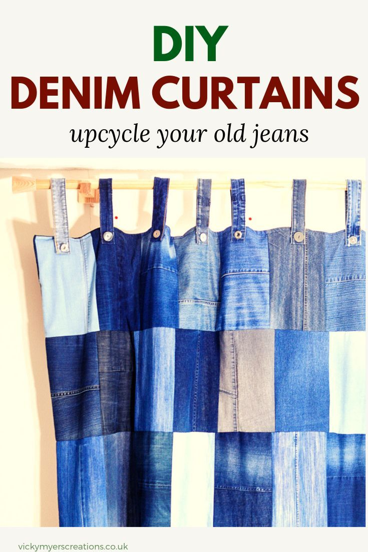 DIY Denim Curtains  how to make lined curtains  vicky myers creations learn how to make your own upcycled lined denim curtains This tutorial shows you just how easy it is...