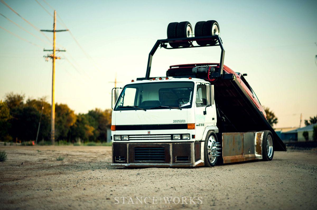 The Baller Hauler Miles Shinneman S 1993 Isuzu Npr Transporter Lowrider Trucks Datsun Pickup Flatbed Towing